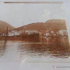 Fotografia antiga: FOTOGRAFIA ESTEREOSCOPÌCAS ESTEREO EN CRISTAL PRINCIPIOS SIGLO XX BARCO PUERTO ZONA DEL CANTABRICO ?. Lote 47002664