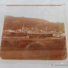 Fotografía antigua: FOTOGRAFIA ESTEREOSCOPÌCAS ESTEREO EN CRISTAL PRINCIPIOS SIGLO XX BARCO EN PUERTO BARCELONA. Lote 47002673
