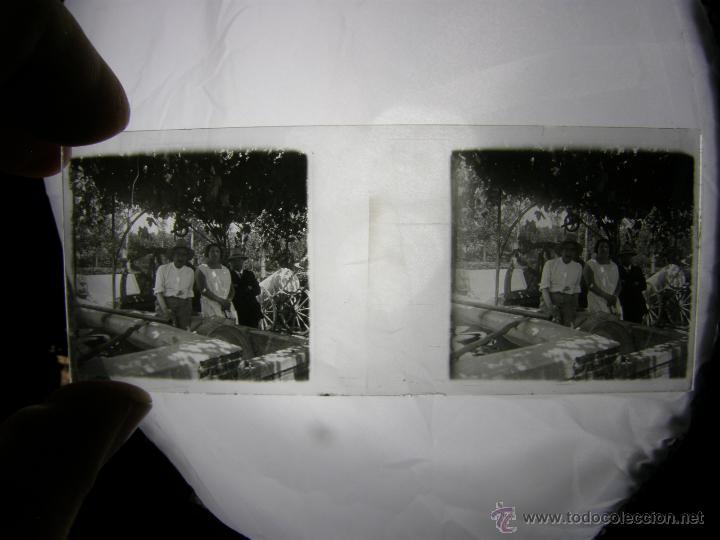 LOTE 7 FOTOS SOBRE VIDRIO CAMPO ALBERCA BURRITO PARRA LAVADERO AÑOS 30 SXX 10,5X4,5CMS (Fotografía Antigua - Estereoscópicas)