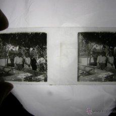 Fotografía antigua: LOTE 7 FOTOS SOBRE VIDRIO CAMPO ALBERCA BURRITO PARRA LAVADERO AÑOS 30 SXX 10,5X4,5CMS. Lote 47093034