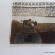 Fotografía antigua: FOTOGRAFIA ESTEREOSCOPICA ESTEREO EN CRISTAL PRINCIPIOS DEL SIGLO XX PLAZA TOROS BARCELONA. Lote 47323019