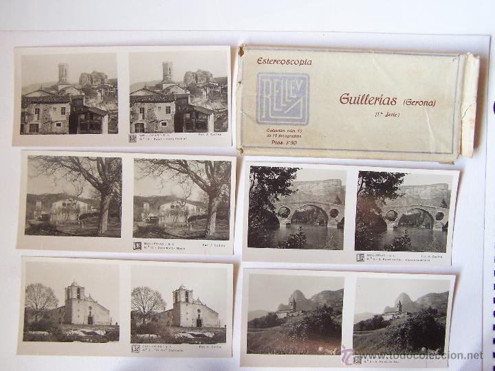 ESTUCHE 15CON 15 VISTAS ESTEROSCÓPICAS DE GILLERÍAS (GERONA).J. CODINA. 1925 (Fotografía Antigua - Estereoscópicas)
