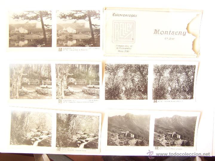 ESTUCHE 19 CON 15 VISTAS ESTEROSCÓPICAS DE MONSENY. 1ª SERIE. J. CODINA. 1925 (Fotografía Antigua - Estereoscópicas)