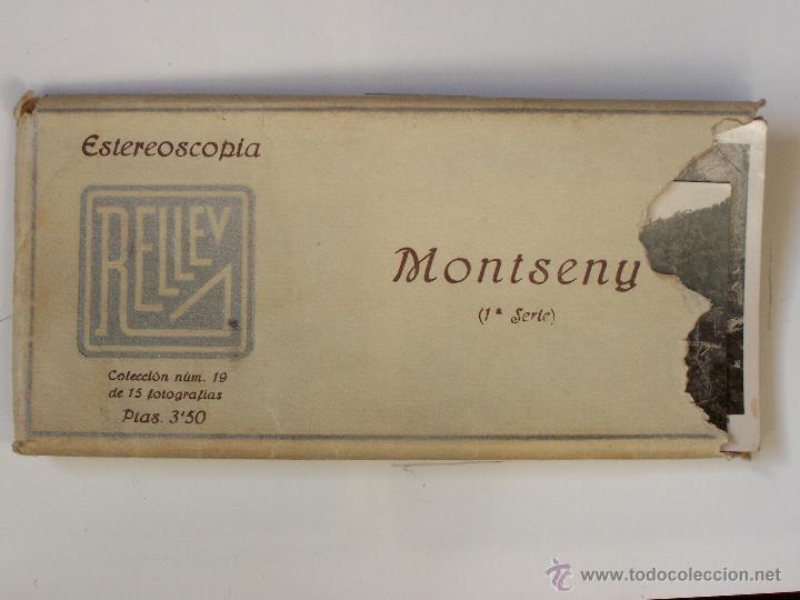 Fotografía antigua: Estuche 19 con 15 vistas esteroscópicas de Monseny. 1ª serie. J. Codina. 1925 - Foto 2 - 47332272