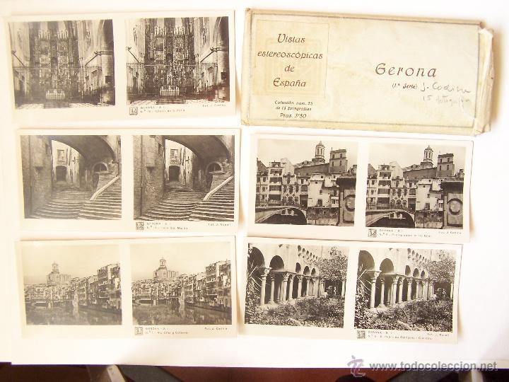 ESTUCHE 25CON 15 VISTAS ESTEROSCÓPICAS GERONA. 1ª SERIE. J. CODINA.. 1925 (Fotografía Antigua - Estereoscópicas)