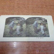 Fotografía antigua: FOTOGRAFÍA ESTEREOSCÓPICA. 2. 'LET ME BLOW'. PRINCIPIOS S. XX. Lote 47811659