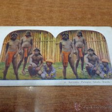 Fotografía antigua: FOTOGRAFÍA ESTEREOSCÓPICA. 16. IGORROTES, PHILIPPINE ISLANDS, MANILA. PRINCIPIOS S. XX. FILIPINAS.. Lote 47811933