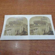 Fotografía antigua: FOTOGRAFÍA ESTEREOSCÓPICA. VALENCIA, LA LONJA. PRINCIPIOS S. XX. Lote 47815759