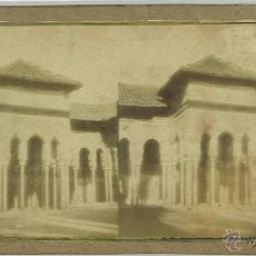Fotografia antiga: JOSEPH CARPENTIER. TEMPLETE DEL PATIO DE LOS LEONES, ALHAMBRA. GRANADA. ESPAÑA AÑO 1856. Lote 47915800