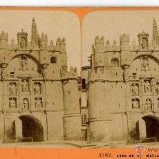 Fotografia antica: J. ANDRIEU. 2707. ARCO DE SANTA MARIA DE BURGOS. Lote 47960181