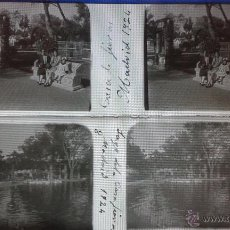 Fotografía antigua: LOTE DE 5 ESTEREOSCÓPICAS EN CRISTAL DE LA CASA DE FIERAS DE MADRID, 1924 . Lote 48379798