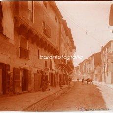 Fotografía antigua: ESPAÑA, CALLE POR IDENTIFICAR, 1910S. CRISTAL POSITIVO ESTEREO 6X13 CM. FXP. Lote 48447753
