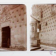 Old photograph - salamanca, casa de las conchas, 1910s. Cristal positivo estereo 6x13 cm. FXP - 48449602