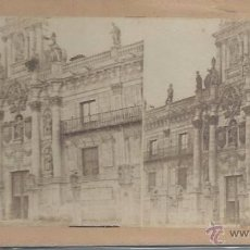 Fotografía antigua: VISTA ESTEROSCOPICA VALLADOLID FACHADA DE LA UNIVERSIDAD. Lote 48519509