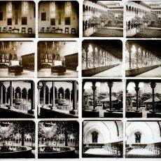 Fotografía antigua: MONASTERIO DE PEDRALBES, BARCELONA 1915'S. 8 CRISTALES POSITIVOS ESTEREO 6X13 CM. FXP. Lote 48552894
