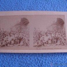 Fotografía antigua: FOTO ESTEREOSCOPICA.LA SERIE DE LA CRUCIFIXIÓN, DE LA REPRESENTACIÓN DE LA PASIÓN.Nº5. Lote 48601617