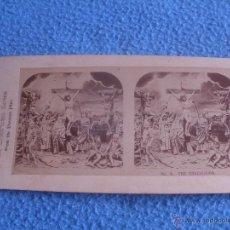 Fotografía antigua: FOTO ESTEREOSCOPICA.LA SERIE DE LA CRUCIFIXIÓN, DE LA REPRESENTACIÓN DE LA PASIÓN.Nº9. Lote 48601828