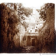 Old photograph - España, pueblo por identificar, 1915'S, CRISTAL POSTIVO ESTEREO 6X13 CM FXP - 48643883