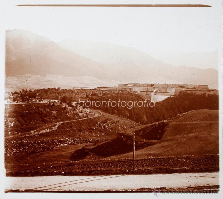 ESPAÑA, PAISAJE POR IDENTIFICAR, 1915'S, CRISTAL POSTIVO ESTEREO 6X13 CM FXP (Fotografía Antigua - Estereoscópicas)