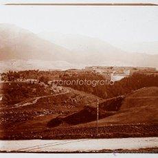 Fotografía antigua - España, paisaje por identificar, 1915'S, CRISTAL POSTIVO ESTEREO 6X13 CM FXP - 48643958
