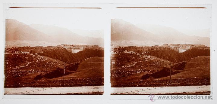 Fotografía antigua: España, paisaje por identificar, 1915S, CRISTAL POSTIVO ESTEREO 6X13 CM FXP - Foto 2 - 48643958