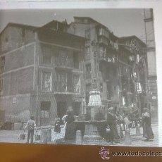 Fotografía antigua: ESTEREOSCÓPICA EN CRISTAL. LA FUENTE DEL RIO DE LA PILA. SANTANDER. 17 X 8,50 CM. Lote 48713762