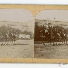 Fotografía antigua: FOTO ESTERESCOPICA. PARQUE DE LA CIUDADELA, BARCELONA PRINCIPIOS DE SIGLO. Lote 48828716