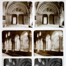 Fotografía antigua: PROV. DE TARRAGONA, 1915'S. 3 CRISTALES POSITIVOS ESTEREO 6X13 CM. FOTOS: PARÉS, FXP.. Lote 48849584
