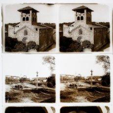 Fotografía antigua: PORQUERES, BANYOLES, 1915'S. 3 CRISTALES POSITIVOS ESTEREO 6X13 CM. FXP. Lote 48849615