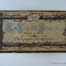 Fotografía antigua: LA VIDA DE JESUS. COLECCIÓN COMPLETA DE 24 ESTEREOS PANÓPTICAS.EDITOR BK.PARÍS. Lote 48920692