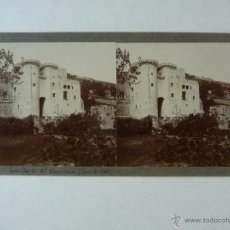 Fotografía antigua: CANET DE MAR. 2 VISTAS: CASTILLO SANTA FLORENTINA Y PUERTA DEL CASTILLO.. Lote 49371121