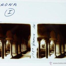 Fotografía antigua: GERONA - CRISTAL ESTEREOSCOPICO. Lote 49535547