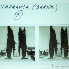Fotografía antigua: VILLAFRANCA, BARCELONA - CRISTAL ESTEREOSCOPICO. Lote 49578088