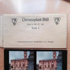Fotografía antigua: ROMA I . 6 VISTAS ESTEREOSCOPICAS COLOREADAS + SOBRE . COLECCION CHROMOPLAST-BILD. Lote 49597785