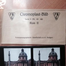 Fotografía antigua: ROMA II . 6 VISTAS ESTEREOSCOPICAS COLOREADAS + SOBRE . COLECCION CHROMOPLAST-BILD. Lote 49597807