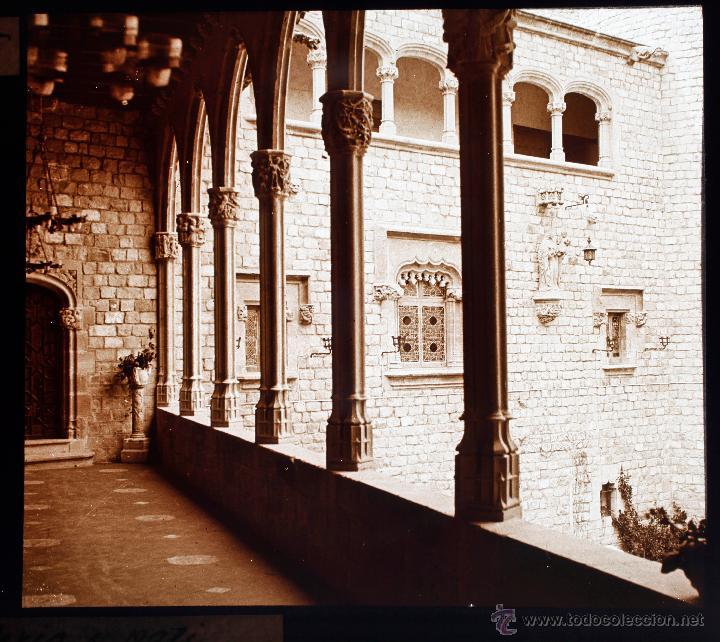 CANET DE MAR, SANTA FLORENTINA, 1910'S. CRISTAL POSITIVO ESTEREO 6X13 CM. (Fotografía Antigua - Estereoscópicas)