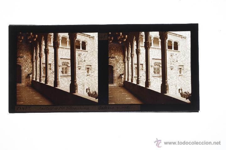 Fotografía antigua: CANET DE MAR, SANTA FLORENTINA, 1910S. CRISTAL POSITIVO ESTEREO 6X13 CM. - Foto 2 - 49751398