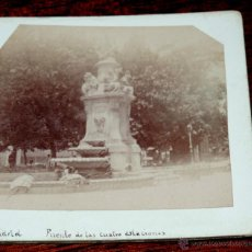Fotografía antigua: MADRID, FUENTE DE LAS CUATRO ESTACIONES, FOTOGRAFIA ESTEREOSCOPICA, MIDE 17,5 X 8,7 CMS.. Lote 49757465
