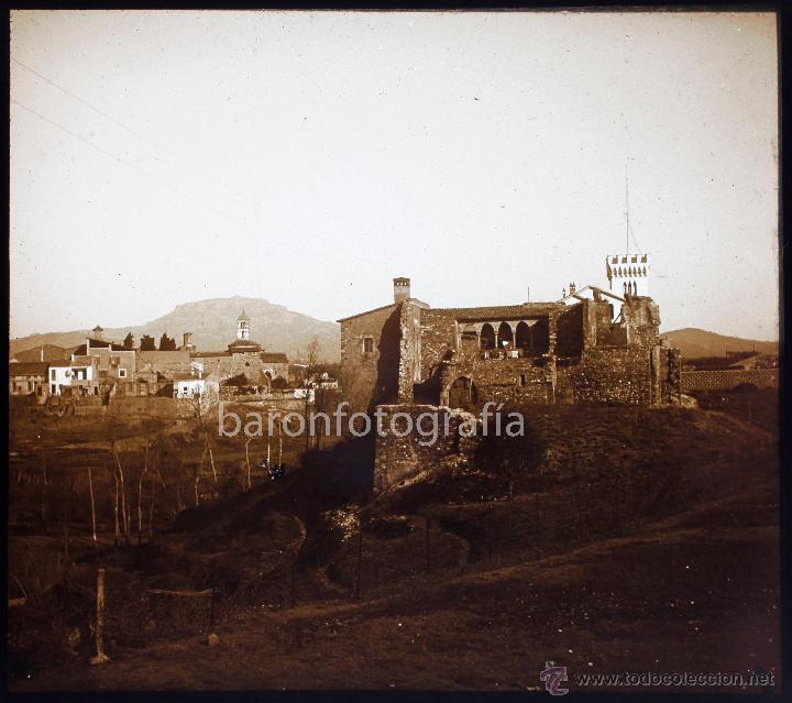 TERRASSA, EL CASTILLO, 1910'S. CRISTAL POSITIVO ESTEREO 6X13 CM. (Fotografía Antigua - Estereoscópicas)