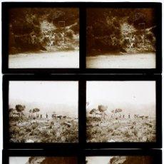 Fotografía antigua: MONTSERRAT, 1910'S. 3 CRISTALES POSITIVOS ESTEREO 6X13 CM.. Lote 49766941