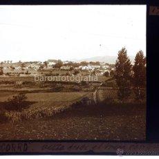 Fotografía antigua: CORRÓ, EL VALLÉS, PROV. BARCELONA VISTA, CRISTAL POSITIVO ESTEREO 6X13 CM.. Lote 49891685