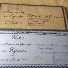 Fotografía antigua: VISTAS ESTEREOSCOPICAS- 30 VISTAS DEL MONASTERIO DE S. CUGAT.. Lote 49892643