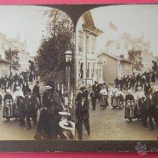 Fotografía antigua - VISTA ESTEREOSCÓPICA. CHURCH STREET, PRINCIPAL STREET OF LEKSAND, SUECIA. 9 X 18 CM. 1905. - 50203638