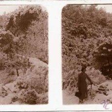 Fotografía antigua: VALLVIDRERA (BARCELONA), FINALES DEL SIGLO XIX PRINCIPIOS DEL XX, CRISTAL POSITIVO ESTEREOSCOPICA, M. Lote 168456910
