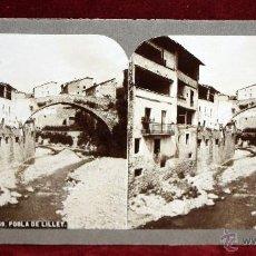 Fotografia antica: ANTIGUA FOTOGRAFÍA ESTEREOSCÓPICA. POBLA DE LILLET (BARCELONA, ESPAÑA). Lote 51121293