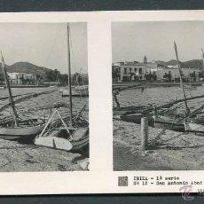Fotografía antigua: IBIZA. PUERTO DE SAN ANTONIO ABAD. BONITA IMAGEN. C. 1945. Lote 50438298