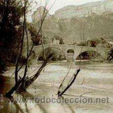 Fotografía antigua: OSONA. PANTANO DE SAU. PUENTE AHORA DESAPARECIDO BAJO LAS AGUAS. C. 1925. Lote 50659709