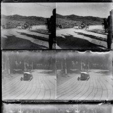 Fotografía antigua: COCHES ANTIGUOS, 1920'S. PROV. DE BARCELONA, 3 CRISTALES NEGATIVOS ESTEREO 6X13 CM.. Lote 51007120