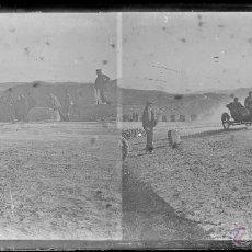 Fotografía antigua: CARRERA DE MOTOS, 1920'S. BARCELONA O ALRDEDORES. CRISTAL NEGATIVO 6X13 CM.. Lote 51009528