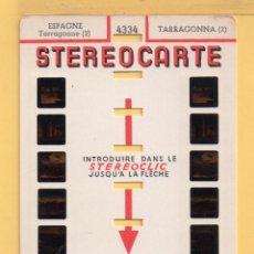 Fotografía antigua: LAMINA Y SOBRE DE STEREREOSCOPIAS DE TARRAGONA EDITADO EN FRANCIA . Lote 51059971